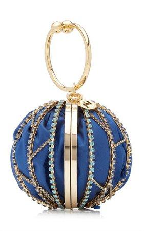 Alice Crystal-Embellished Silk Top Handle Bag By Rosantica | Moda Operandi