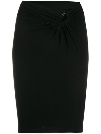 UNRAVEL PROJECT v-waist fitted skirt - FARFETCH