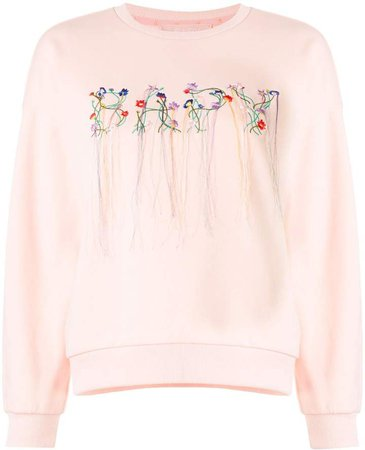 Bapy Embroidered Floral Logo Sweatshirt