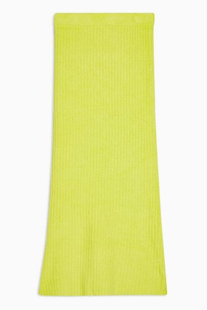**Neon Yellow Chenille Skirt By Topshop Boutique | Topshop