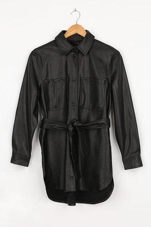Vero Moda Debbie - Vegan Leather Jacket - Black Jacket - Lulus
