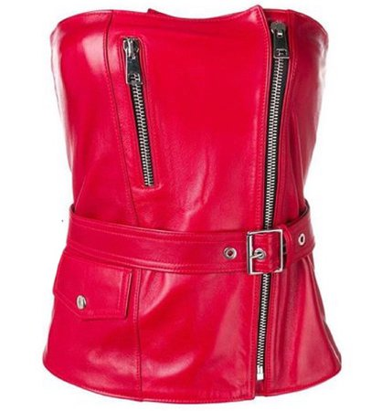 Leather Bodice Top
