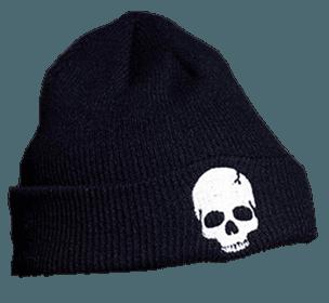 Black Skull Beanie
