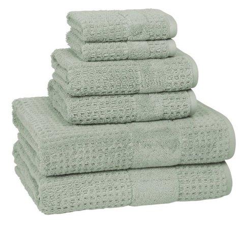 sage towels