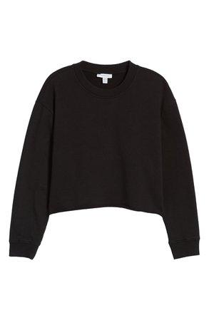 Topshop Crewneck Crop Sweatshirt | Nordstrom