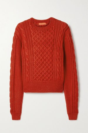 Red Cable-knit alpaca sweater | Commission | NET-A-PORTER