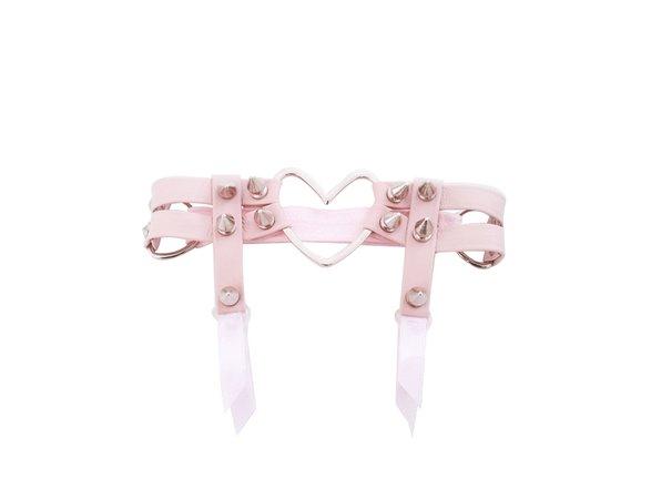Pink Heart Garter