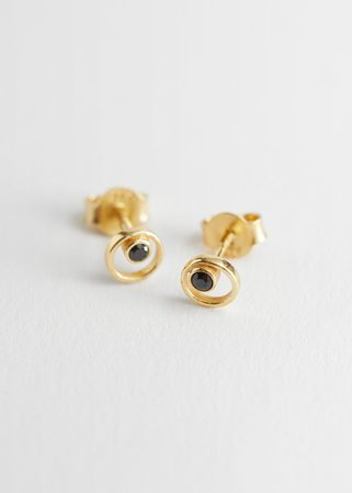 Sterling Silver Micro Stud Earrings - Gold - Studs - & Other Stories