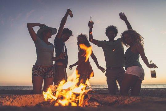 beach bonfire party - Google Search