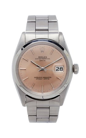 Vintage Watches Rolex Date 34mm Salmon Dial