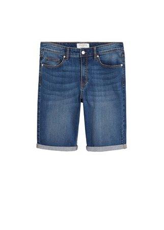 Violeta BY MANGO Medium wash denim bermuda shorts