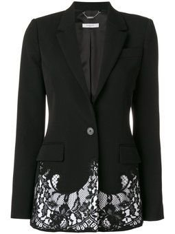 Lace Embroidered Blazer