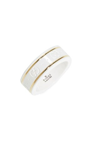 Gucci Icon White Zirconia & 18K Gold Ring | Nordstrom