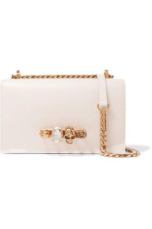 Alexander McQueen   Jewelled Satchel embellished leather shoulder bag   NET-A-PORTER.COM