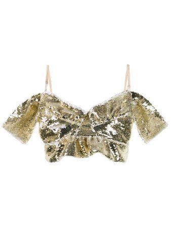 Simone Rocha sequinned bustier top £495 - Shop Online. Same Day Delivery in London