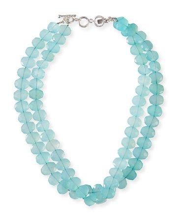 Margo Morrison 2-Strand Chalcedony Necklace