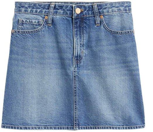 Petite Rigid Denim Mini Skirt