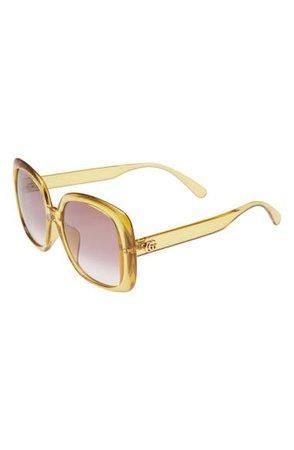 Gucci 56mm Square Sunglasses | Nordstrom