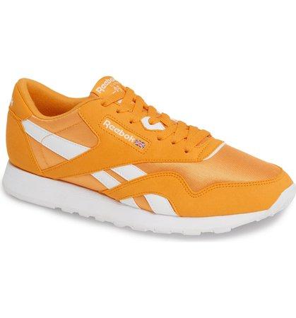 Reebok Classic Nylon Sneaker Yellow Orange