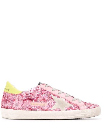 Shop Golden Goose Superstar sequin sneakers with Express Delivery - FARFETCH