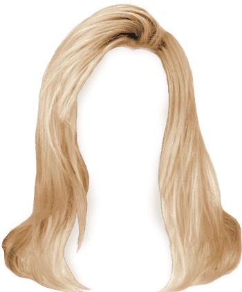 Blonde shaped hair styling transparent