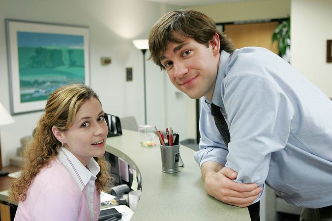 """""""The Office"""" Jim and Pam"""