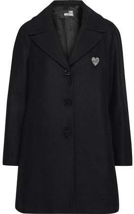 Appliqued Wool-blend Coat
