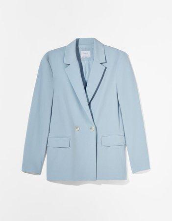 Flowy buttoned blazer - Outerwear - Woman | Bershka