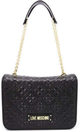faux leather quilted shoulder bags