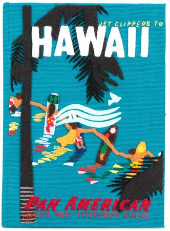 Hawaiian Surfers clutch bag