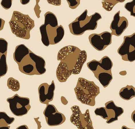 glitter animal cheetah print