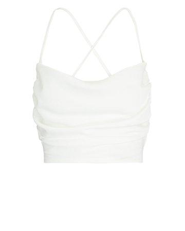 NONchalant Label Cara Tie-Back Sleeveless Crop Top   INTERMIX®