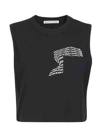 T by Alexander Wang T by Alexander Wang Short Sleeve T-Shirt - Black - 11186874   italist