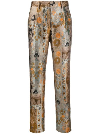 Etro Embroidered Paisley Trousers - Farfetch