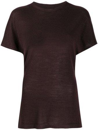 Red Rick Owens plain T-shirt - Farfetch