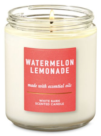 Watermelon Lemonade Single Wick Candle | Bath & Body Works