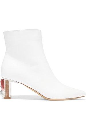 Gabriela Hearst | Raya leather ankle boots | NET-A-PORTER.COM