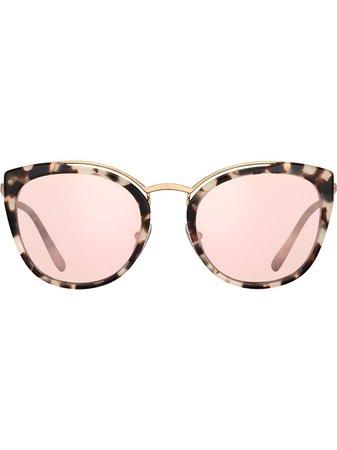 Prada Eyewear Cat Eye Mirror Sunglasses - Farfetch