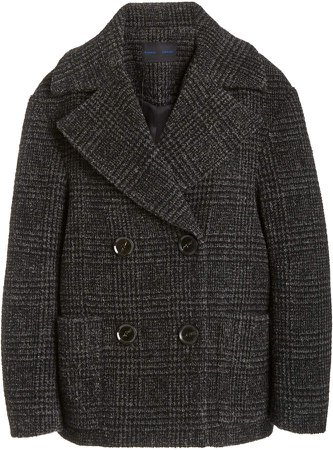 Proenza Schouler Wool Plaid Double-Breasted Coat