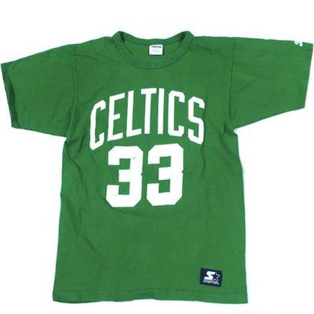 Vintage Boston Celtics Larry Bird Starter T-shirt NBA Basketball Legend – For All To Envy