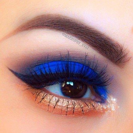 orange and blue eyeshadow
