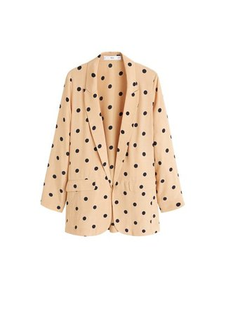 MANGO Structured polka-dot blazer
