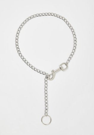 Adjustable Clasp O-Ring Chain Necklace Silver | Dolls Kill