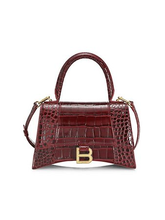 Balenciaga Hourglass Leather Top Handle Bag | SaksFifthAvenue