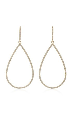14K Gold And Diamond Earrings by Sheryl Lowe | Moda Operandi