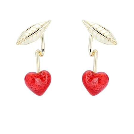 Cherry Enamel Drop Earring | All We Are | Wolf & Badger