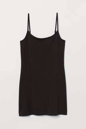 Long Tank Top - Black - Ladies   H&M US