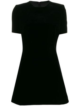 Black Saint Laurent Velvet Dress | Farfetch.com