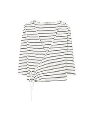 MANGO Textured wrapped t-shirt