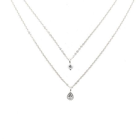 Sterling Silver Diamond Layer Necklace